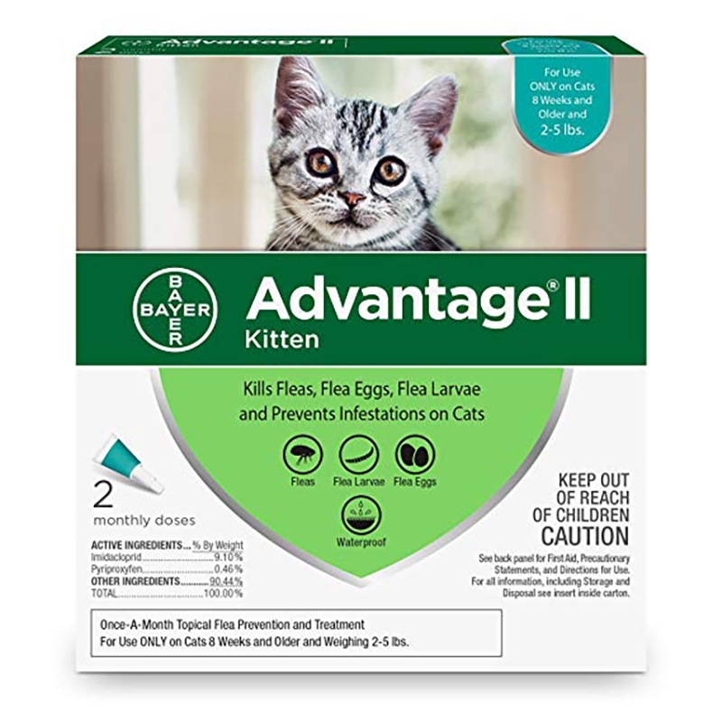 Advantage II Flea Topical for Kittens 2 pk I017861