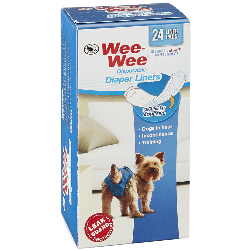 Four Paws Wee-Wee Disposable Diaper Liners 24 pk I017891