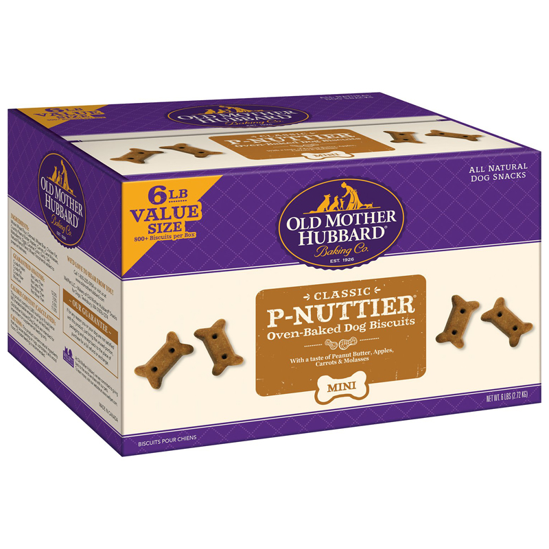 Old Mother Hubbard P-Nuttier Dog Biscuits Mini 6 lbs  I017894