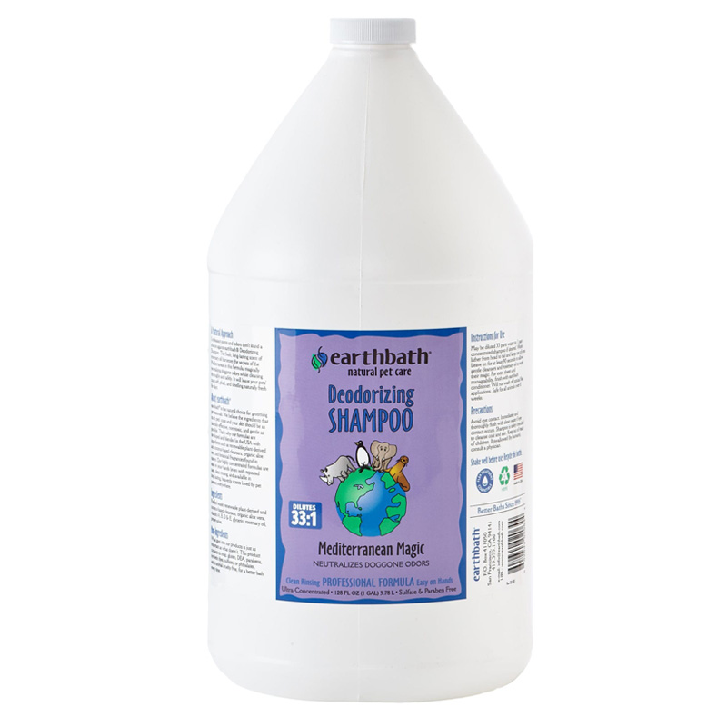 earthbath Deodorizing Shampoo Mediterranean Magic 1 gal  I018008