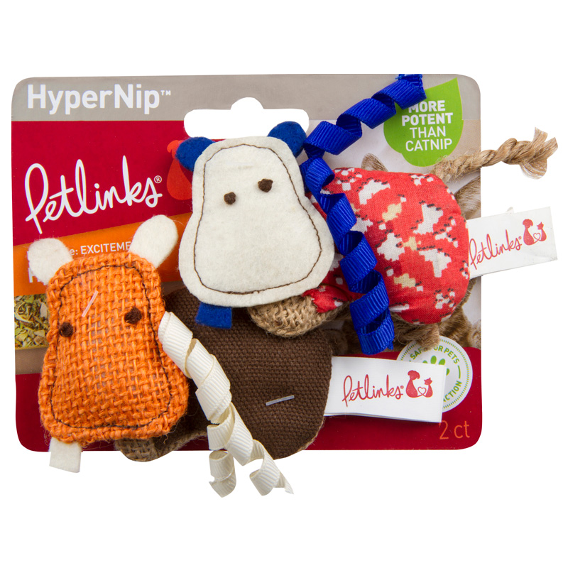 Petlinks HyperNip Hyper Hippos 2 ct  I018173