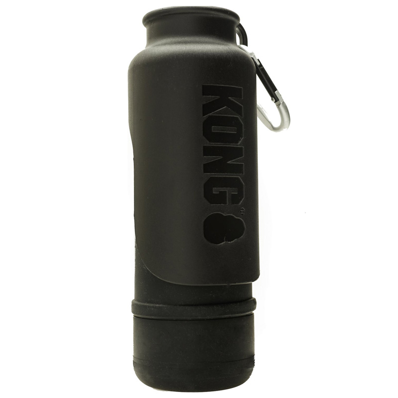 KONG H2O Stainless Steel Insulated Dog Water Bottle Black 25 oz. I018211