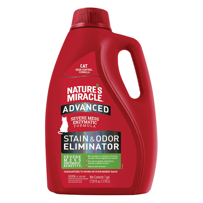 Nature's Miracle Cat Advanced Stain & Odor Remover 1 Gallon I018376