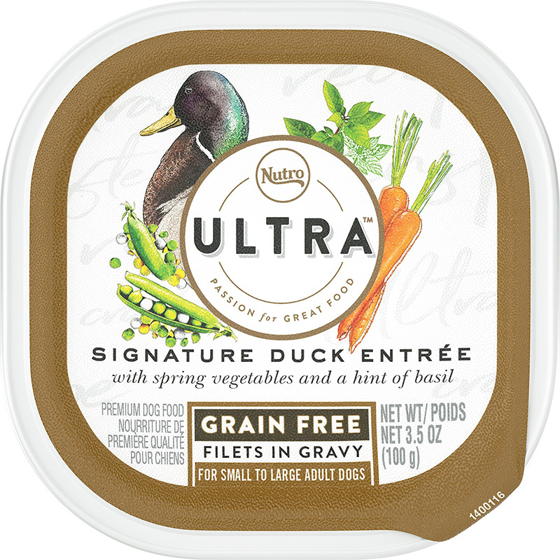 Nutro Ultra Signature Duck Entrée Filets in Gravy Adult Dog Food 3.5oz  I018403