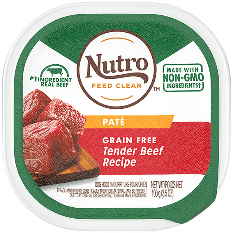 Nutro Grain Free Tender Beef Recipe Pate Adult Dog Food 3.5oz  I018406