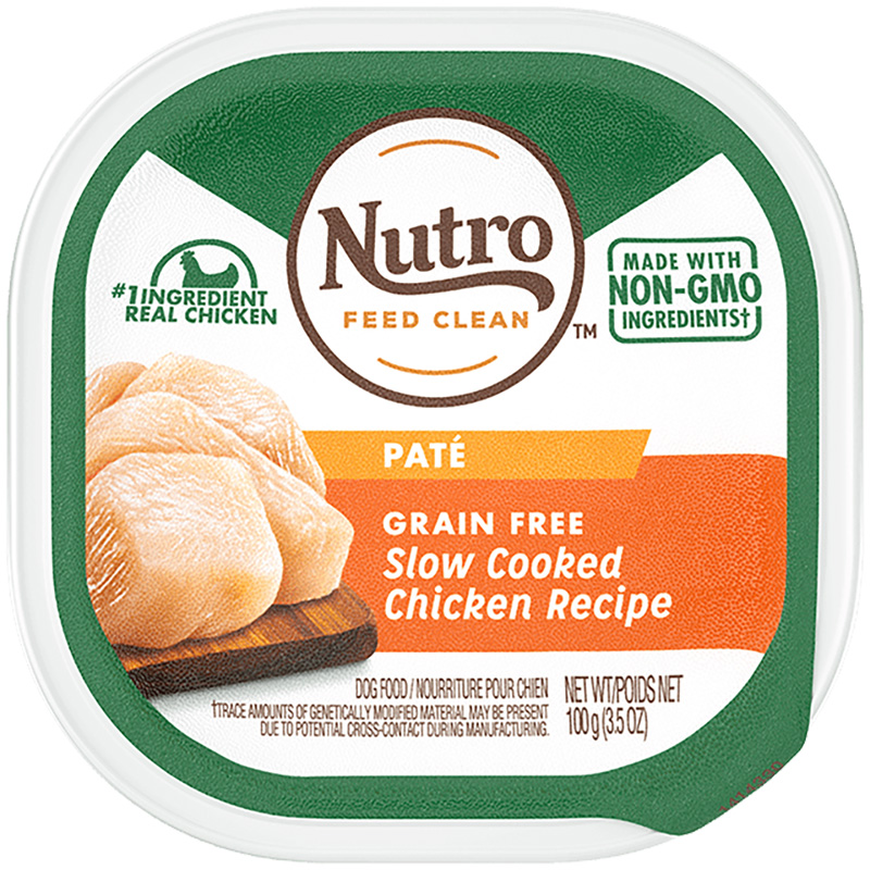 Nutro Grain Free Slow Cooked Chicken Recipe Pate Adult Dog Food 3.5oz  I018407