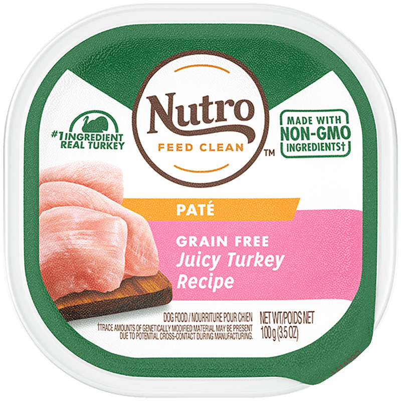 Nutro Grain Free Juicy Turkey Recipe Pate Adult Dog Food 3.5 oz I018409