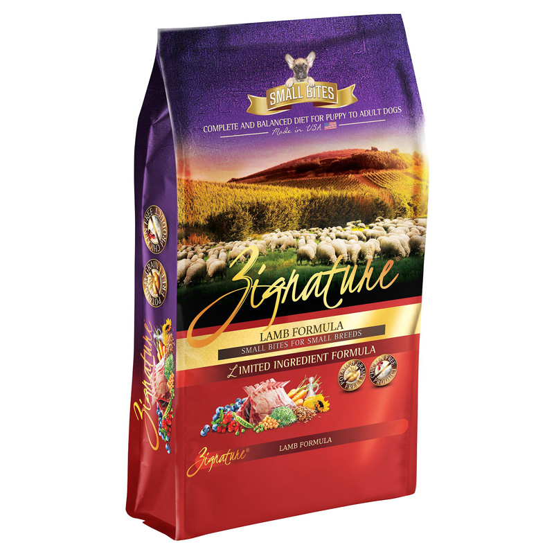 Zignature Lamb Small Bites for Small Breeds Limited Ingredient Formula Dog Food  I018456
