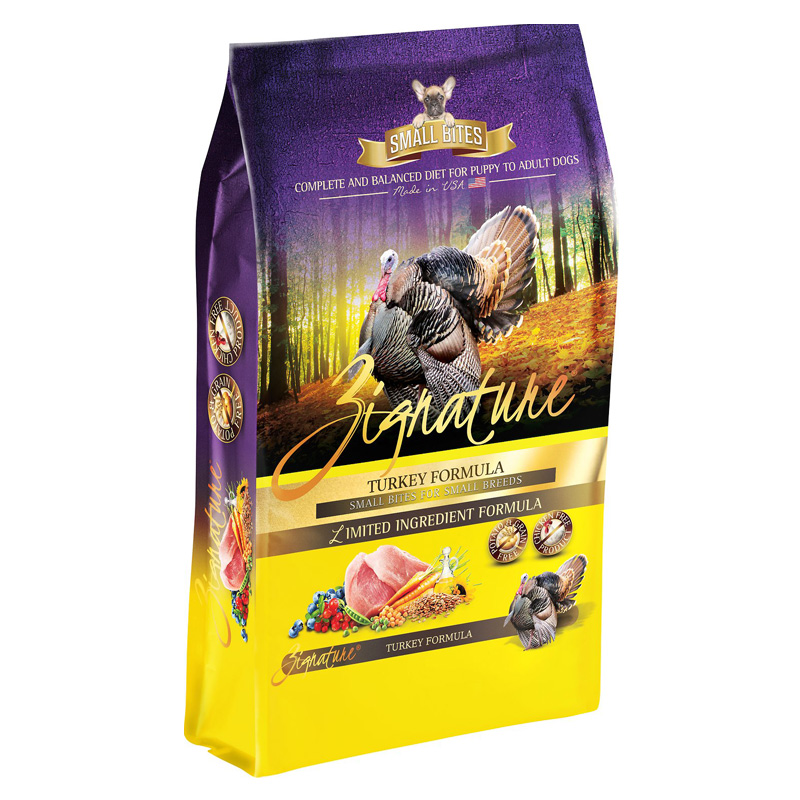 Zignature Turkey Small Bites for Small Breeds Limited Ingredient Formula Dog Food  I018458b