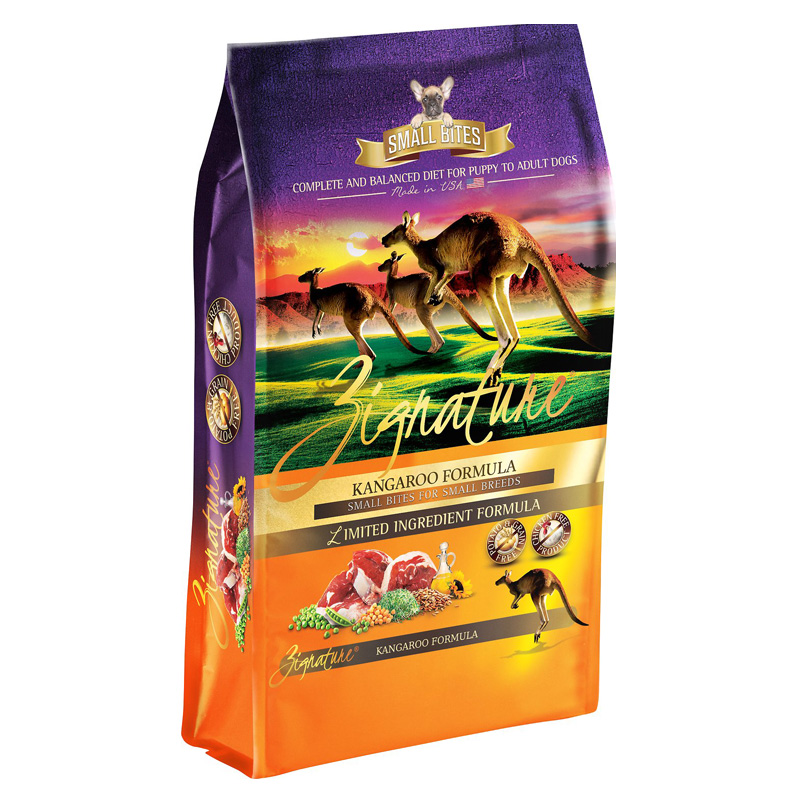 Zignature Kangaroo Small Bites for Small Breeds Limited Ingredient Dog Food  I018462b