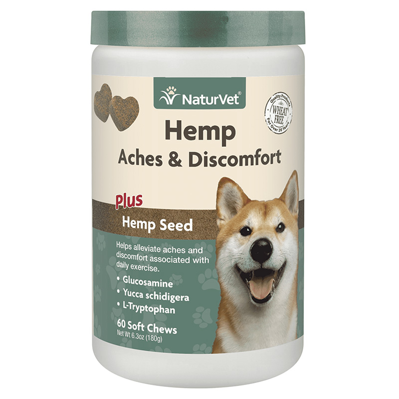 NaturVet Hemp Aches & Discomfort Soft Chews 60 ct I018471