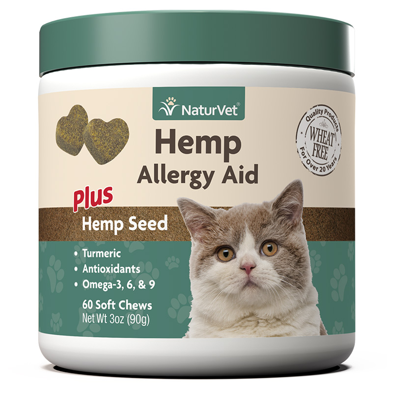 NaturVet Hemp Allergy Aid Soft Chews for Cats 60 ct I018472