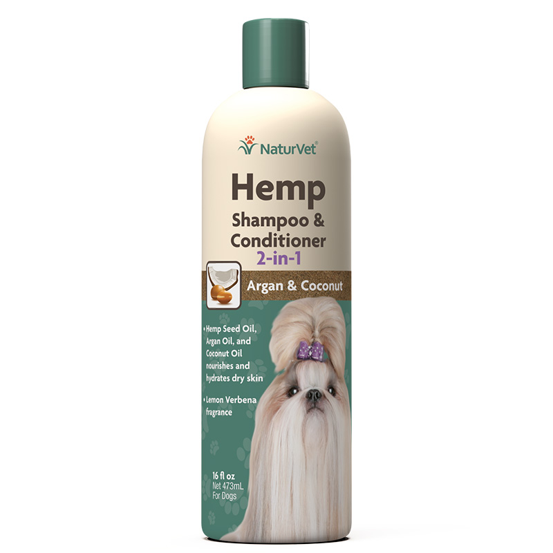 Naturvet Hemp Shampoo & Conditioner 2-in-1 16 oz  I018474