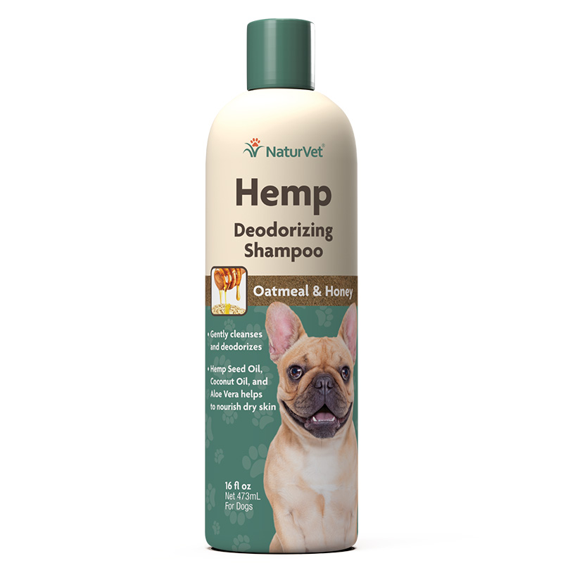 NaturVet Hemp Deodorizing Shampoo for Dogs 16 oz I018475