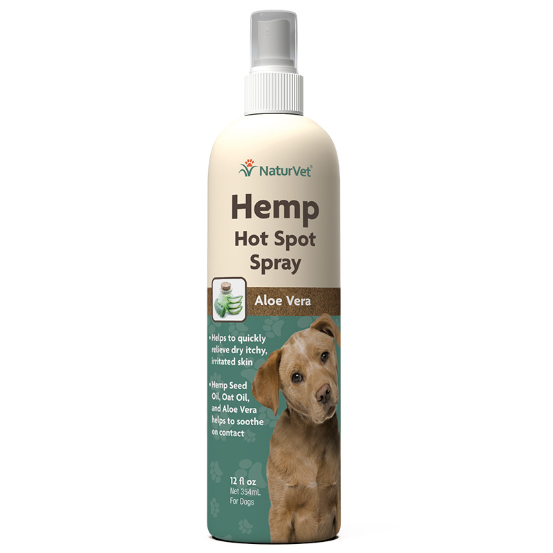 NaturVet Hemp Hot Spot Spray for Dogs 12 oz I018476