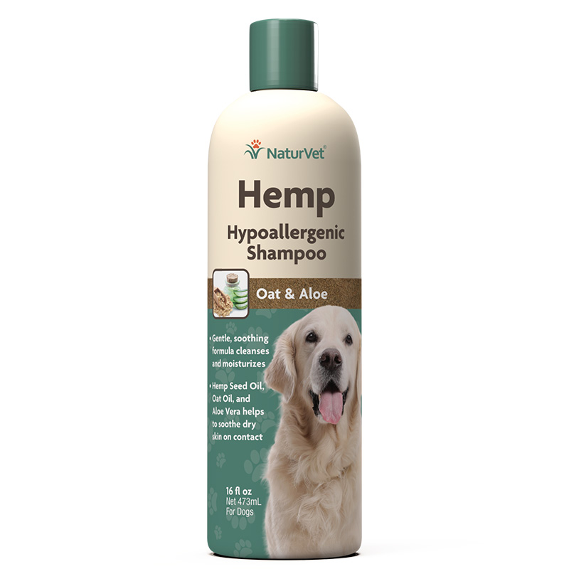 NaturVet Hemp Hypoallergenic Shampoo for Dogs 16 oz I018477