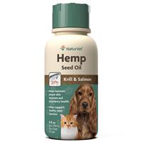 NaturVet Hemp Seed Oil with Krill & Salmon for Pets  I018478