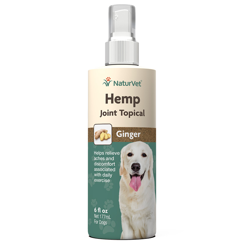 NaturVet Hemp Joint Topical Solution for Dogs 6 oz  I018482
