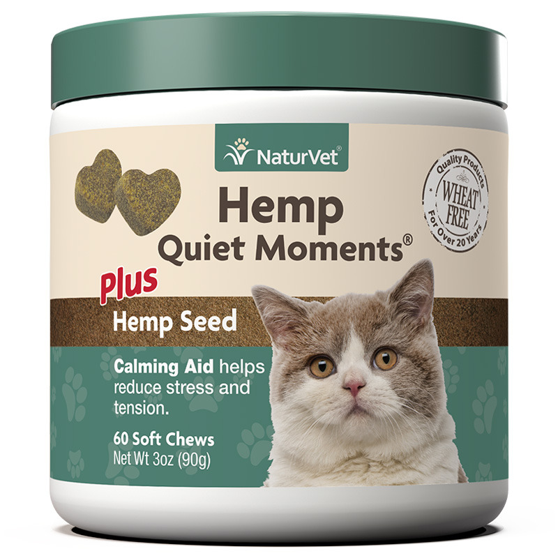 NaturVet Hemp quiet Moments Soft Chews for Cats 60 ct I018483