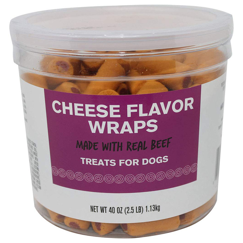Triumph Cheese Flavor Wraps Dog Treats 40 oz I018535