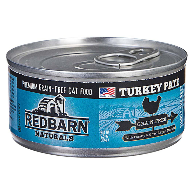Redbarn Naturals Grain-Free Cat Food Turkey Pate 5.5 oz. I018730