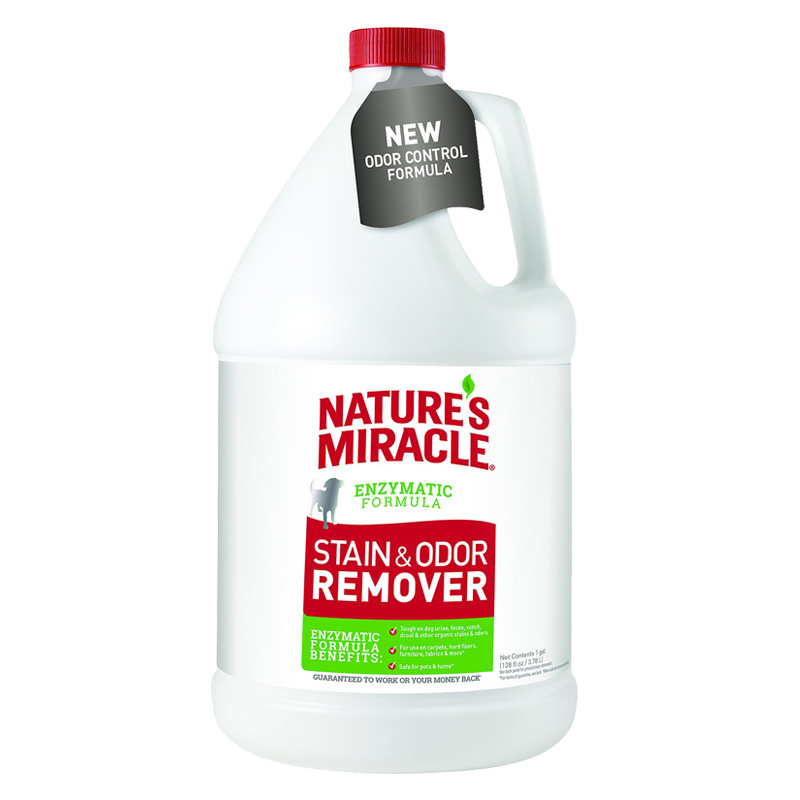 Nature's Miracle Stain & Odor Remover Nature's Enzymatic Formula 1 Gallon I018737
