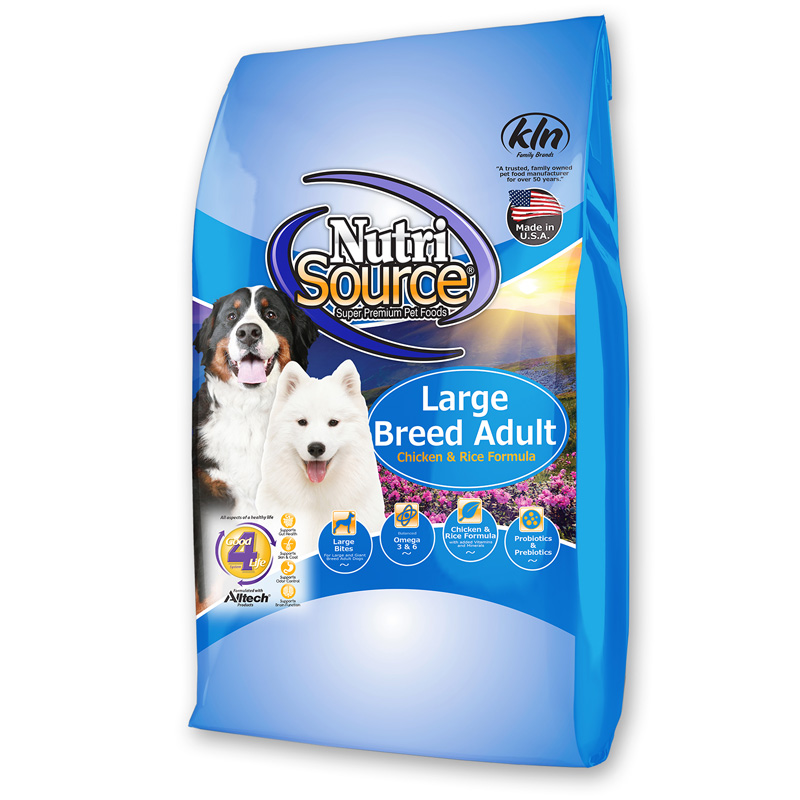 NutriSource Large Breed Adult Chicken & Rice Formula Dog Food 30 lbs I018749