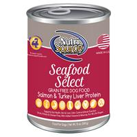 NutriSource Seafood Select Grain Free Dog Food 13 oz I018796