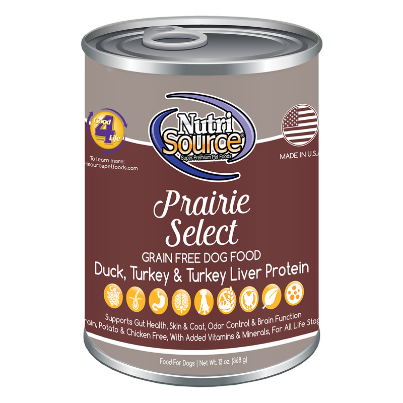 NutriSource Prairie Select Grain Free Dog Food 13 oz I018799