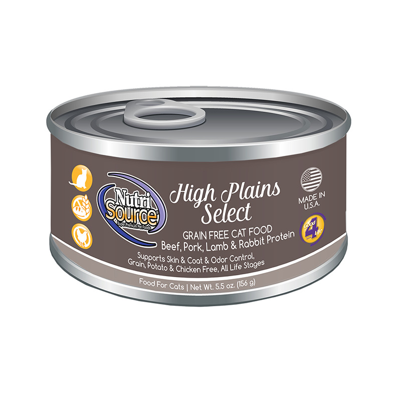 NutriSource High Plains Select Grain Free Cat Good 5.5 oz I018805