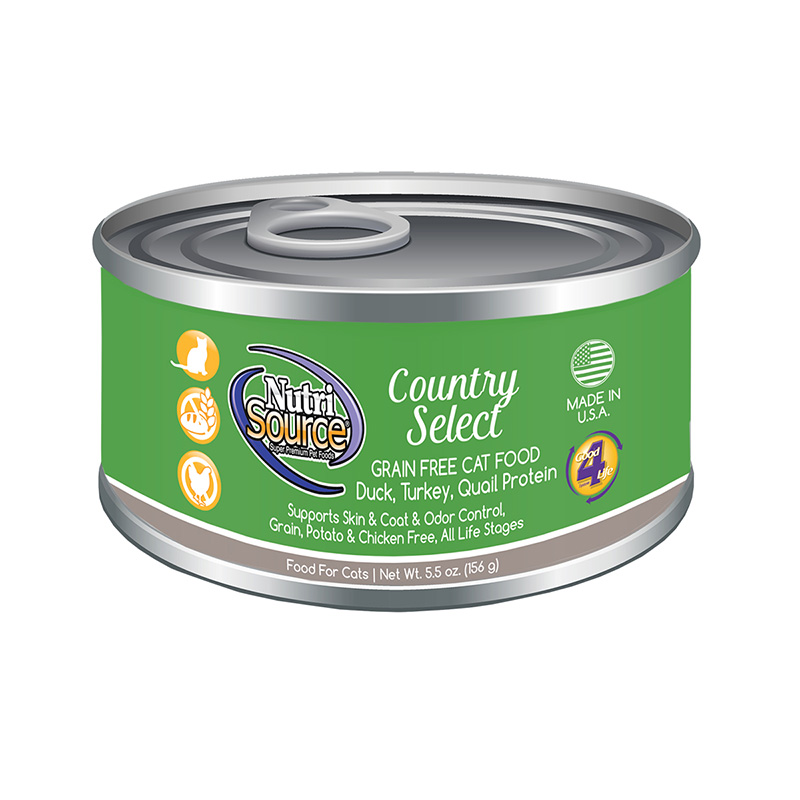 NutriSource Country Select Grain Free Cat Food 5.5 oz I018806