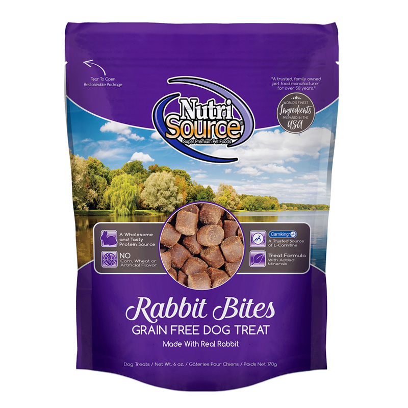 NutriSource Rabbit Bites Grain Free Dog Treats 6 oz I018820