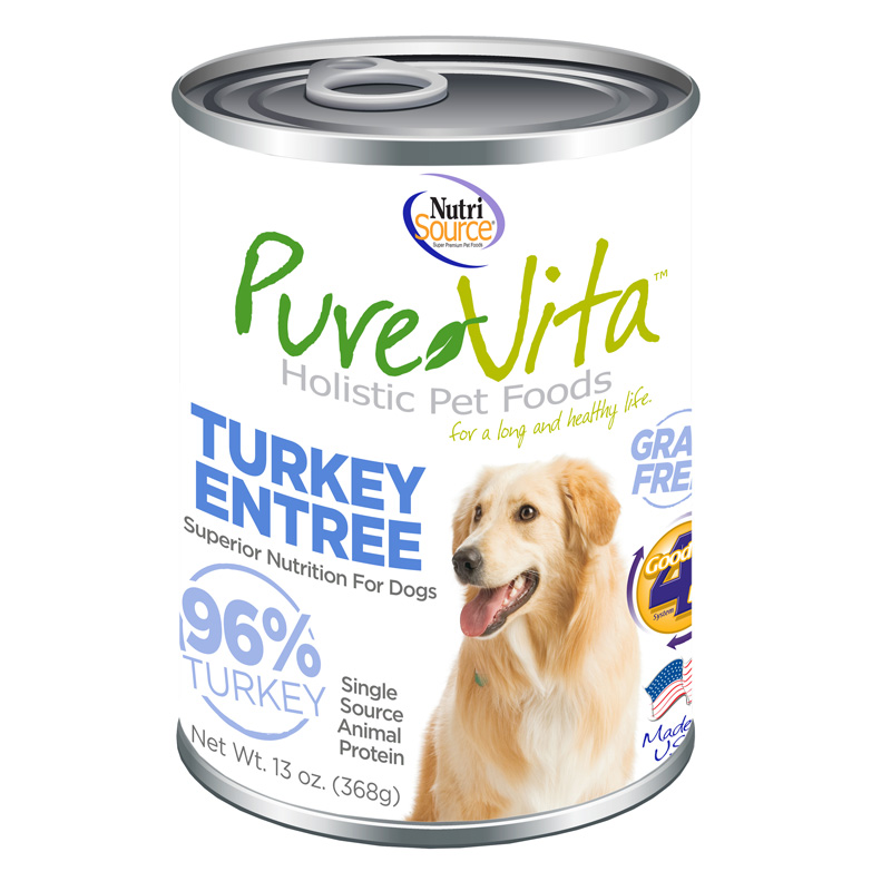 PureVita Turkey Entrée Grain Free Dog Food 13 oz I018838
