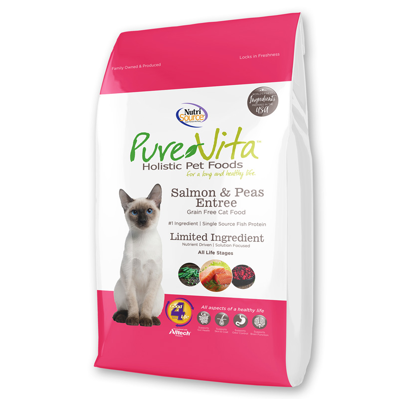 PureVita Grain Free Salmon & Peas Entrée Cat Food  I018856b