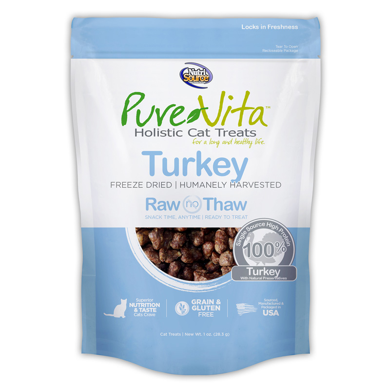 PureVita Freeze Dried Turkey Cat Treats 1 oz I018863