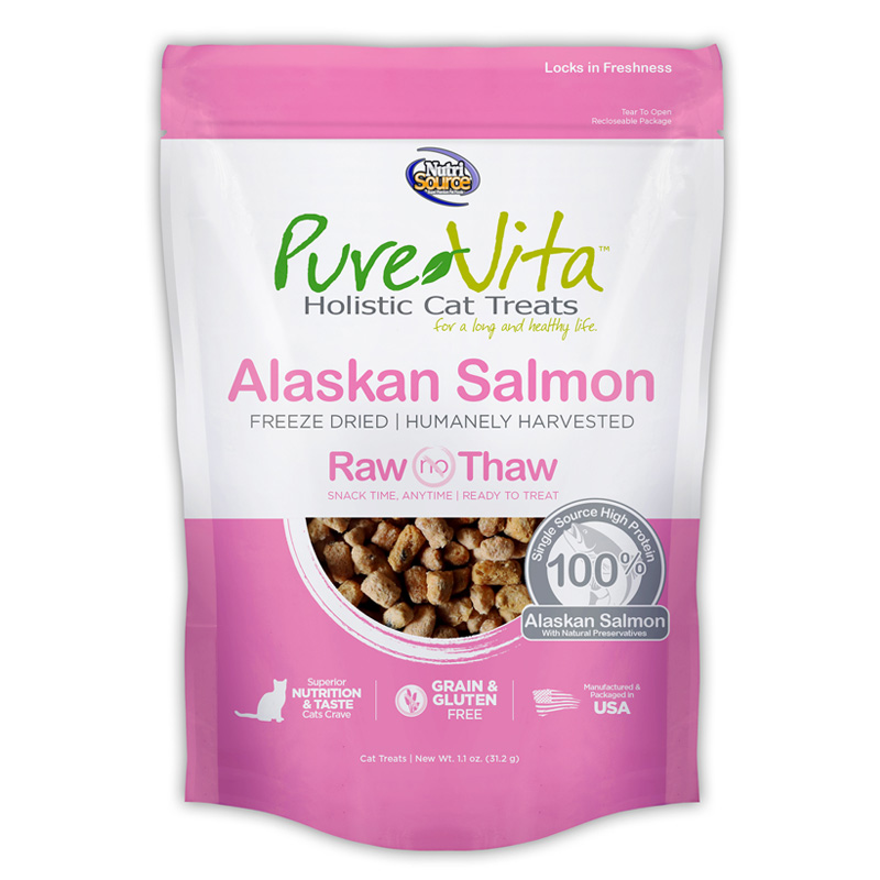 PureVita Freeze Dried Salmon Cat Treats 1.1 oz I018866