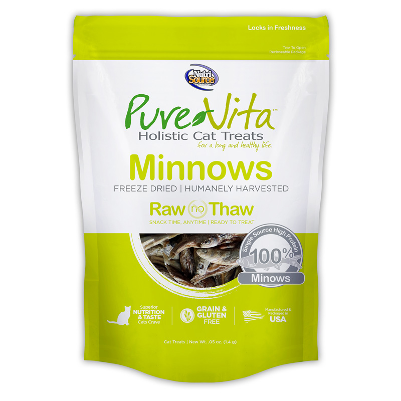 PureVita Freeze Dried Minnows Cat Treats 0.5 oz I018867