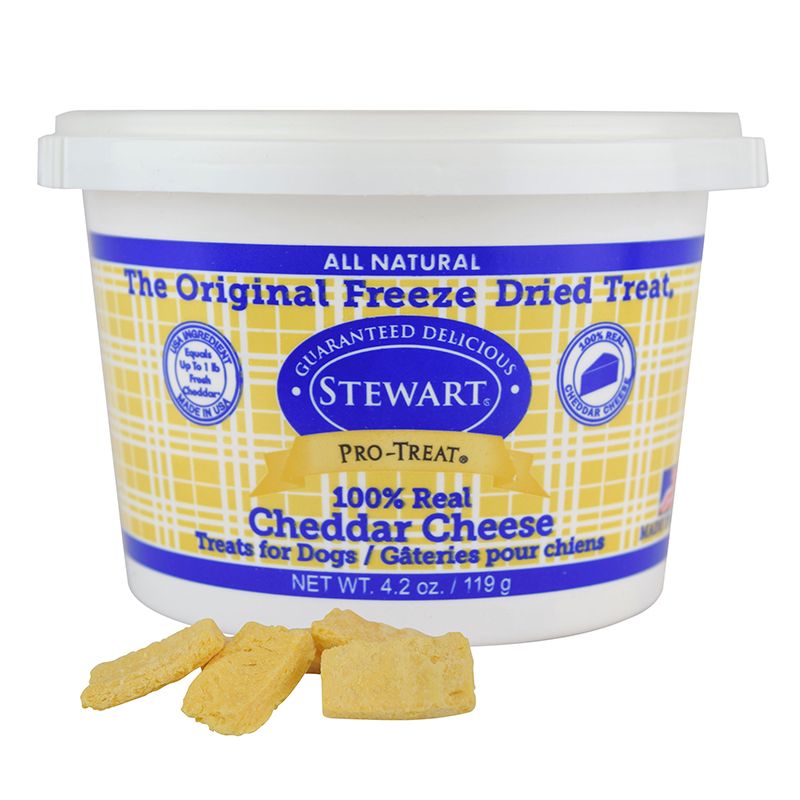 Stewart Pro-Treat Cheddar Cheese Freeze-Dried Dog Treats 4.2 oz I018875