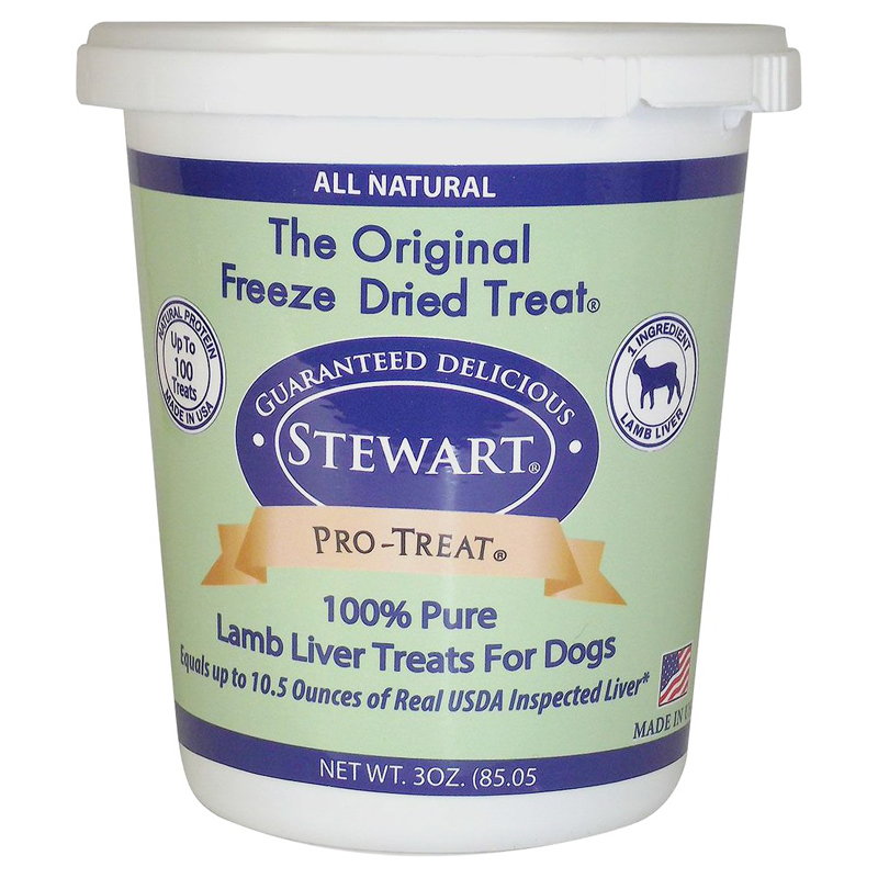 Stewart Pro-Treat Lamb Liver Freeze-Dried Dog Treats 3 oz  I018876