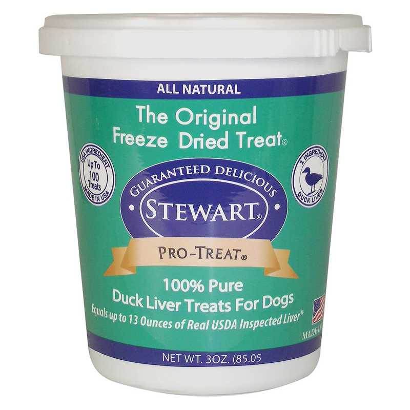 Stewart Pro-Treat Duck Liver Freeze-Dried Dog Treats 3 oz  I018877