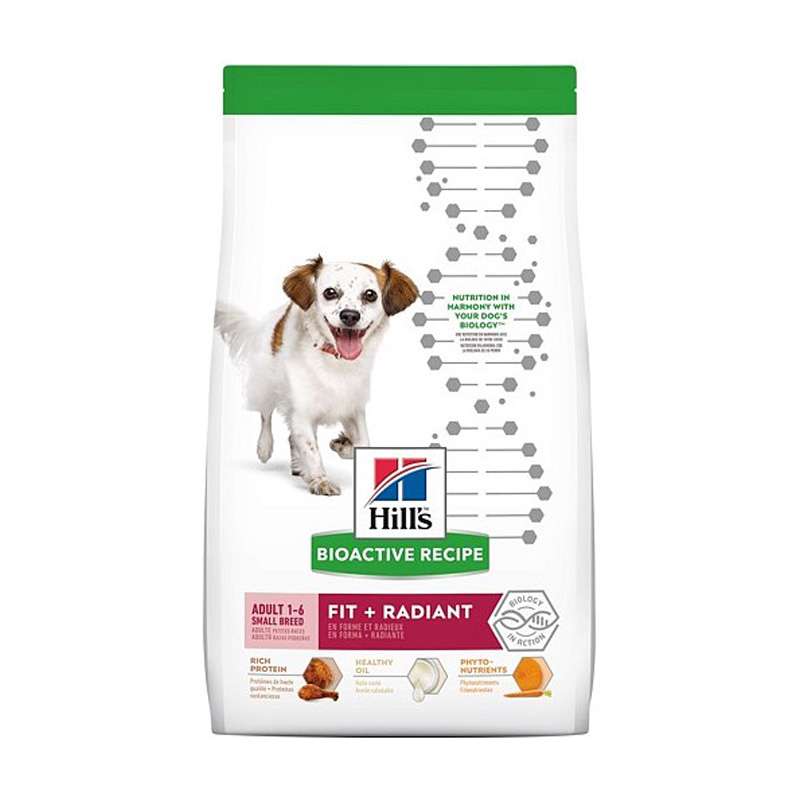 Hill's Bioactive Recipe Adult Small Breed Fit + Radiant Dog Food  I018886b