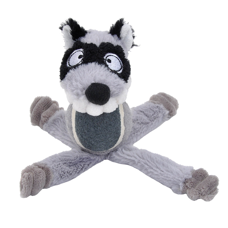 "Coastal Lil Pals Tennis Ball Plush Raccoon 6"" I018969"