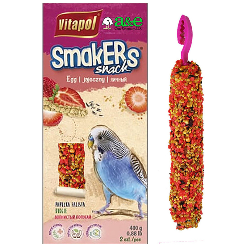 Vitapol Smakers Strawberry Treat Sticks for Parakeets 2 pk I018979