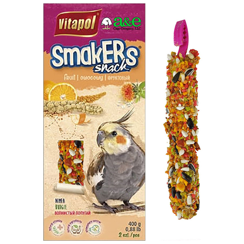 Vitapol Smakers Snack Fruit Treat Sticks for Cockatiels 2 pk I018981