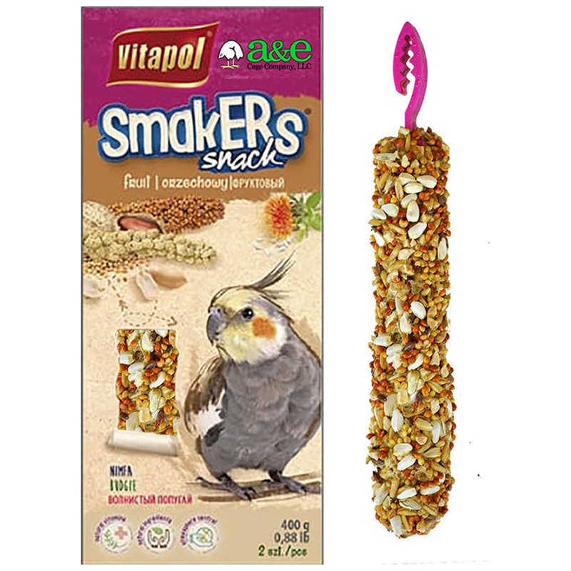 Vitapol Smakers Snack Nut Treat Sticks for Cockatiels 2 pk I018982