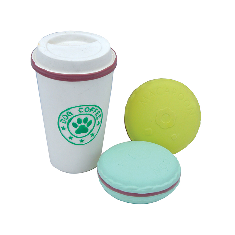 Coastal Li'l Pals Coffee Cup & Two Cookies Dog Toy 3 ct I019082