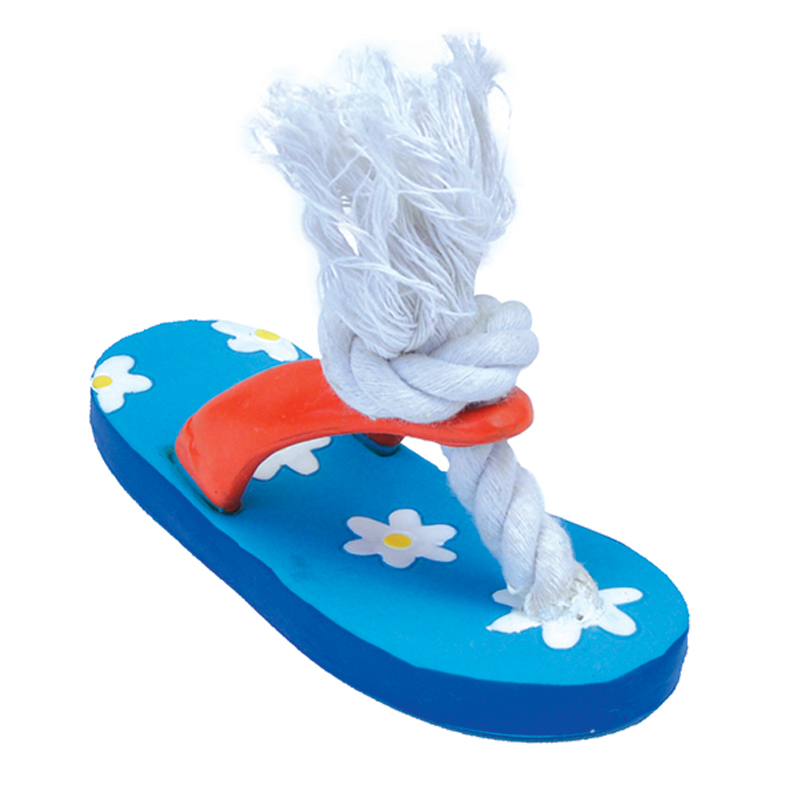 Coastal Li'l Pals Latex Flower Flip Flop Dog Toy 5 in  I019091