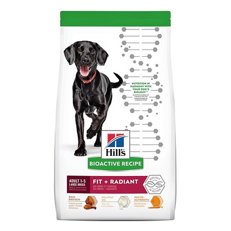 Hill's Bioactive Recipe Adult Large Breed Fit + Radiant Dog Food 22.5 lbs  I019160