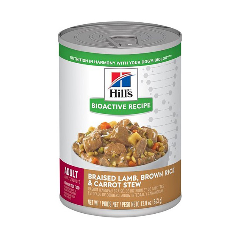 Hill's Bioactive Recipe Adult Braised Lamb, Brown Rice & Carrot Stew Dog Food 12.8 oz  I019163