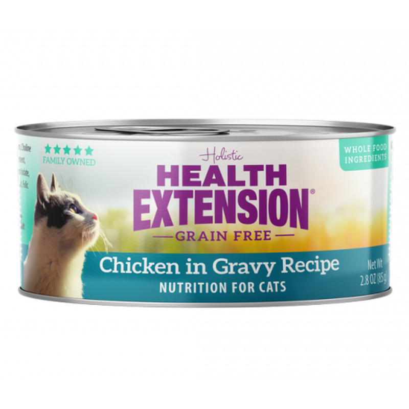 Health Extension Grain Free Chicken in Gravy Recipe Cat Food 2.8 oz I019205